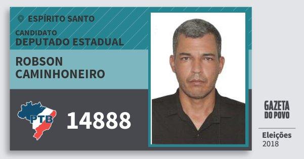 Santinho Robson Caminhoneiro 14888 (PTB) Deputado Estadual | Espírito Santo | Eleições 2018