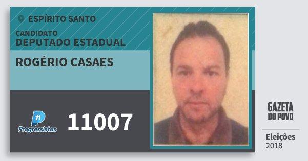 Santinho Rogério Casaes 11007 (PP) Deputado Estadual | Espírito Santo | Eleições 2018