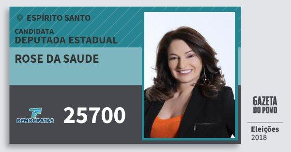 Santinho Rose da Saude 25700 (DEM) Deputada Estadual | Espírito Santo | Eleições 2018