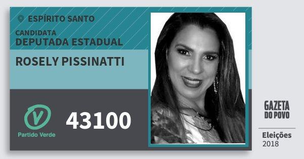 Santinho Rosely Pissinatti 43100 (PV) Deputada Estadual | Espírito Santo | Eleições 2018