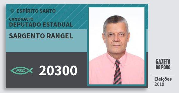 Santinho Sargento Rangel 20300 (PSC) Deputado Estadual | Espírito Santo | Eleições 2018