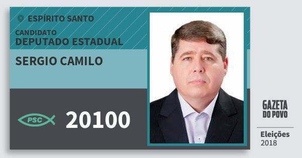 Santinho Sergio Camilo 20100 (PSC) Deputado Estadual | Espírito Santo | Eleições 2018
