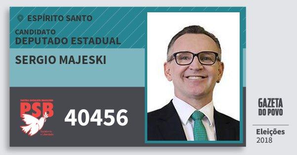 Santinho Sergio Majeski 40456 (PSB) Deputado Estadual   Espírito Santo   Eleições 2018