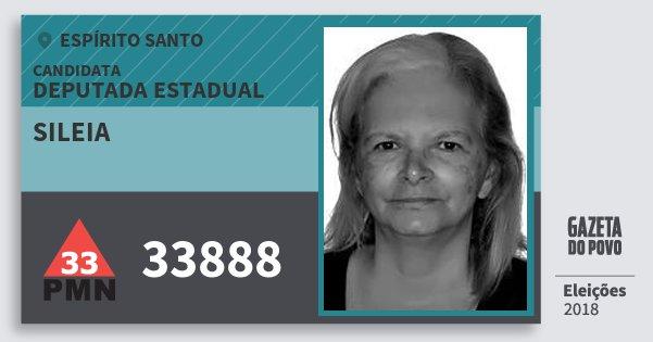 Santinho Sileia 33888 (PMN) Deputada Estadual | Espírito Santo | Eleições 2018