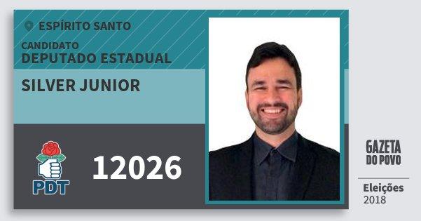 Santinho Silver Junior 12026 (PDT) Deputado Estadual | Espírito Santo | Eleições 2018