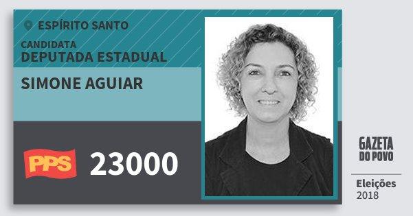 Santinho Simone Aguiar 23000 (PPS) Deputada Estadual | Espírito Santo | Eleições 2018