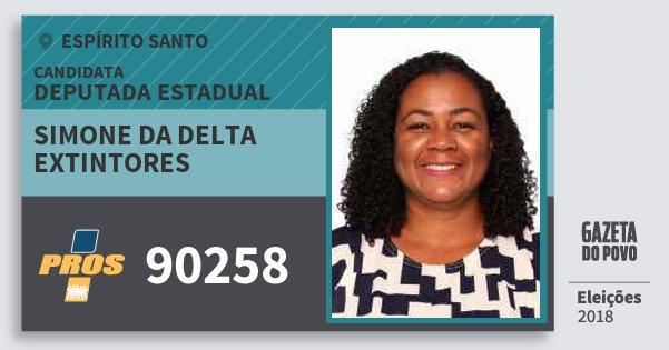 Santinho Simone da Delta Extintores 90258 (PROS) Deputada Estadual | Espírito Santo | Eleições 2018