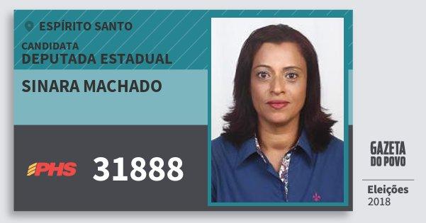Santinho Sinara Machado 31888 (PHS) Deputada Estadual | Espírito Santo | Eleições 2018