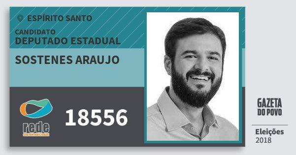 Santinho Sostenes Araujo 18556 (REDE) Deputado Estadual | Espírito Santo | Eleições 2018