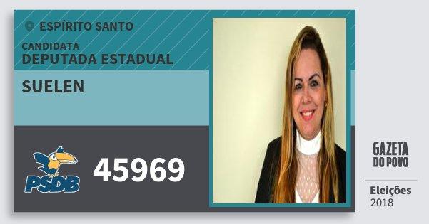 Santinho Suelen 45969 (PSDB) Deputada Estadual | Espírito Santo | Eleições 2018