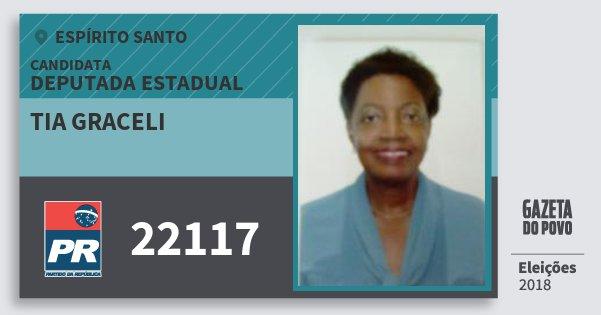 Santinho Tia Graceli 22117 (PR) Deputada Estadual | Espírito Santo | Eleições 2018