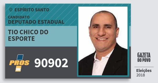 Santinho Tio Chico do Esporte 90902 (PROS) Deputado Estadual | Espírito Santo | Eleições 2018