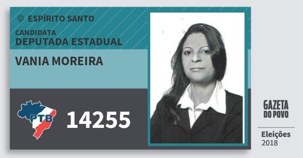 Santinho Vania Moreira 14255 (PTB) Deputada Estadual | Espírito Santo | Eleições 2018