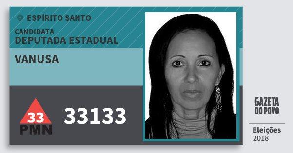 Santinho Vanusa 33133 (PMN) Deputada Estadual | Espírito Santo | Eleições 2018