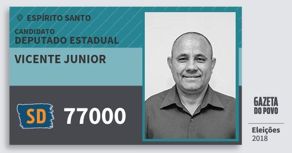 Santinho Vicente Junior 77000 (SOLIDARIEDADE) Deputado Estadual | Espírito Santo | Eleições 2018
