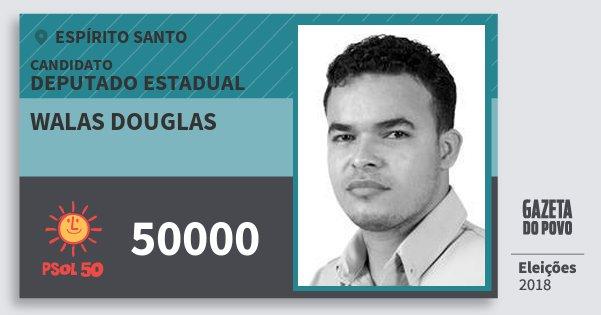 Santinho Walas Douglas 50000 (PSOL) Deputado Estadual | Espírito Santo | Eleições 2018