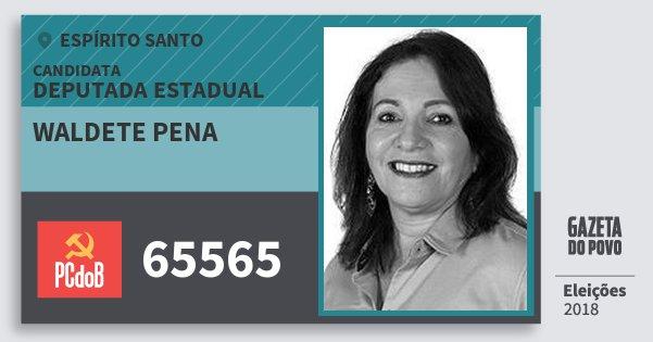 Santinho Waldete Pena 65565 (PC do B) Deputada Estadual | Espírito Santo | Eleições 2018