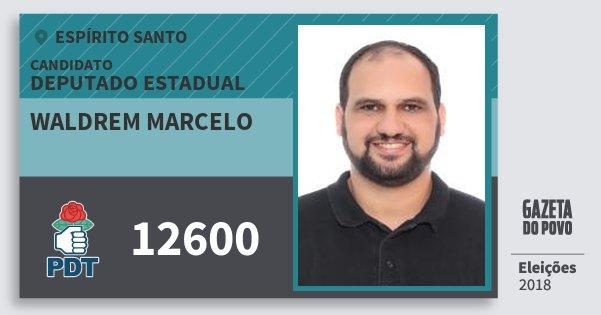 Santinho Waldrem Marcelo 12600 (PDT) Deputado Estadual | Espírito Santo | Eleições 2018