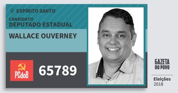 Santinho Wallace Ouverney 65789 (PC do B) Deputado Estadual | Espírito Santo | Eleições 2018