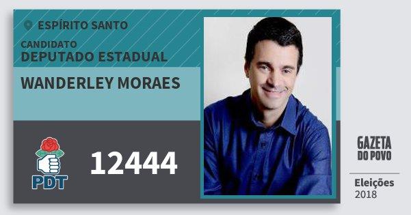 Santinho Wanderley Moraes 12444 (PDT) Deputado Estadual   Espírito Santo   Eleições 2018