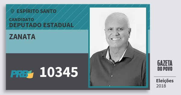Santinho Zanata 10345 (PRB) Deputado Estadual | Espírito Santo | Eleições 2018