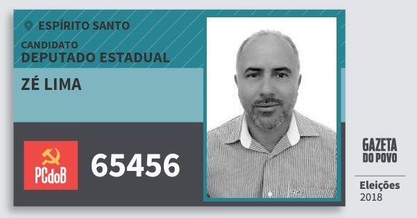 Santinho Zé Lima 65456 (PC do B) Deputado Estadual | Espírito Santo | Eleições 2018