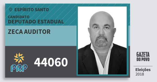 Santinho Zeca Auditor 44060 (PRP) Deputado Estadual | Espírito Santo | Eleições 2018