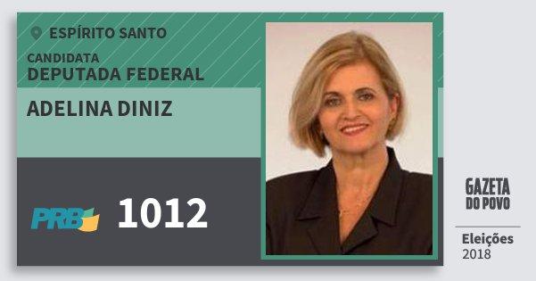 Santinho Adelina Diniz 1012 (PRB) Deputada Federal | Espírito Santo | Eleições 2018