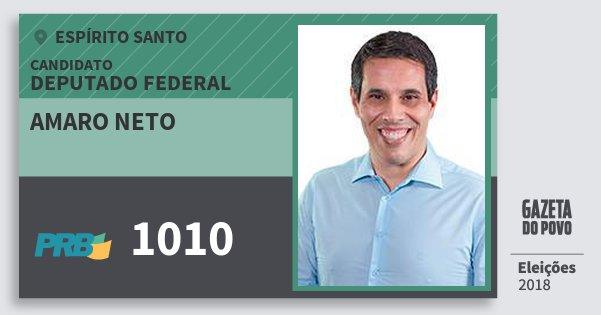 Santinho Amaro Neto 1010 (PRB) Deputado Federal | Espírito Santo | Eleições 2018