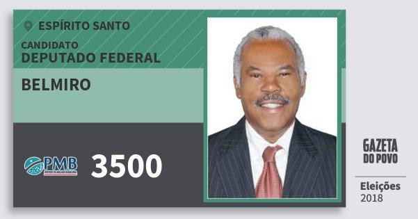 Santinho Belmiro 3500 (PMB) Deputado Federal | Espírito Santo | Eleições 2018