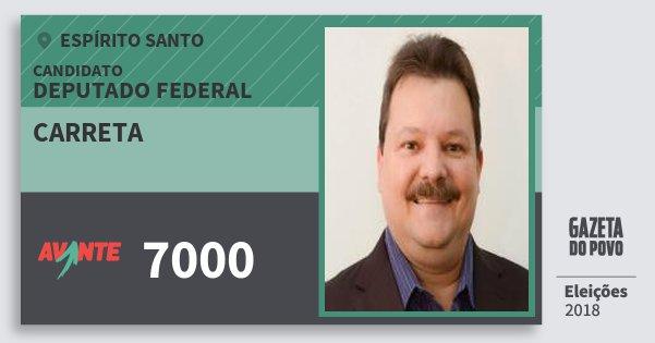 Santinho Carreta 7000 (AVANTE) Deputado Federal | Espírito Santo | Eleições 2018