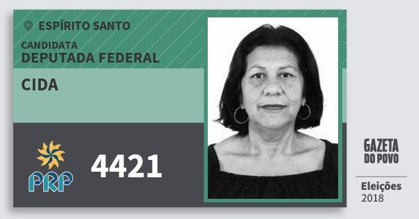 Santinho Cida 4421 (PRP) Deputada Federal | Espírito Santo | Eleições 2018