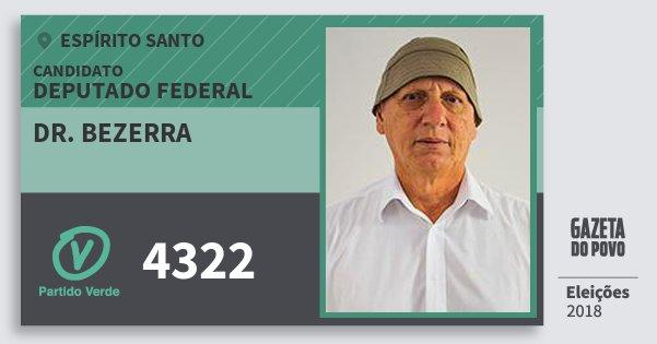 Santinho Dr. Bezerra 4322 (PV) Deputado Federal   Espírito Santo   Eleições 2018
