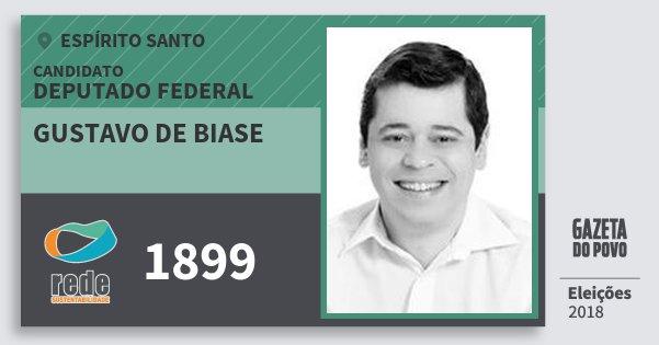 Santinho Gustavo de Biase 1899 (REDE) Deputado Federal | Espírito Santo | Eleições 2018