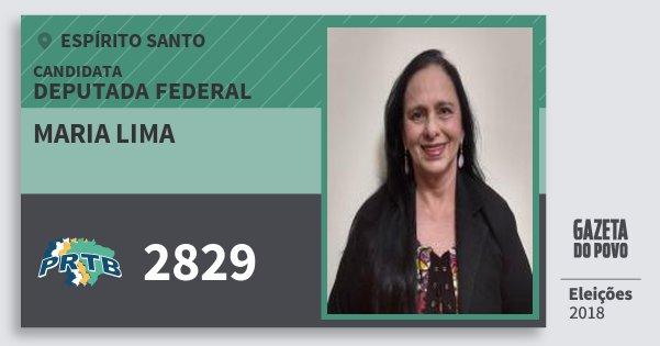 Santinho Maria Lima 2829 (PRTB) Deputada Federal   Espírito Santo   Eleições 2018