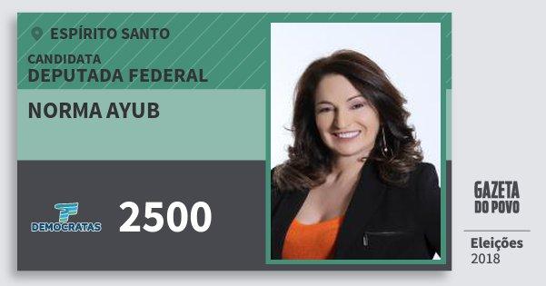 Santinho Norma Ayub 2500 (DEM) Deputada Federal | Espírito Santo | Eleições 2018