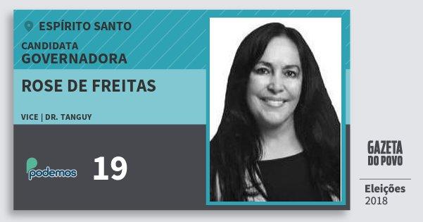 Santinho Rose de Freitas 19 (PODE) Governadora | Espírito Santo | Eleições 2018