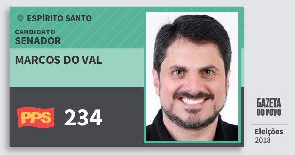 Santinho Marcos do Val 234 (PPS) Senador | Espírito Santo | Eleições 2018