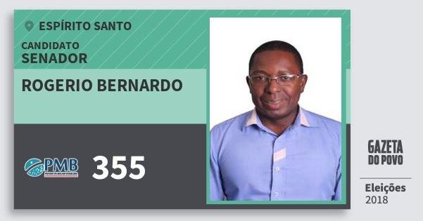 Santinho Rogerio Bernardo 355 (PMB) Senador | Espírito Santo | Eleições 2018