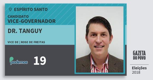 Santinho Dr. Tanguy 19 (PODE) Vice-governador   Espírito Santo   Eleições 2018
