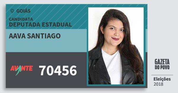 Santinho Aava Santiago 70456 (AVANTE) Deputada Estadual   Goiás   Eleições 2018