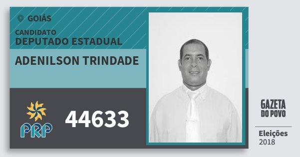 Santinho Adenilson Trindade 44633 (PRP) Deputado Estadual | Goiás | Eleições 2018