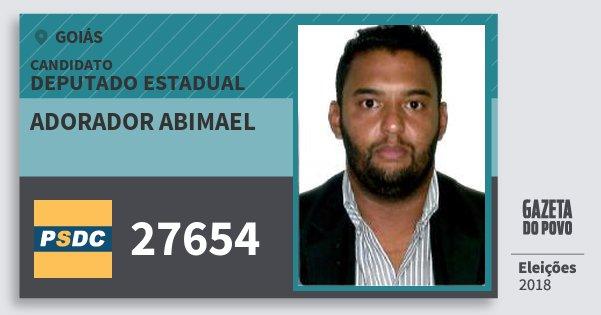 Santinho Adorador Abimael 27654 (DC) Deputado Estadual | Goiás | Eleições 2018