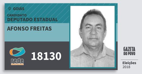 Santinho Afonso Freitas 18130 (REDE) Deputado Estadual | Goiás | Eleições 2018