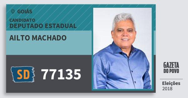 Santinho Ailto Machado 77135 (SOLIDARIEDADE) Deputado Estadual | Goiás | Eleições 2018