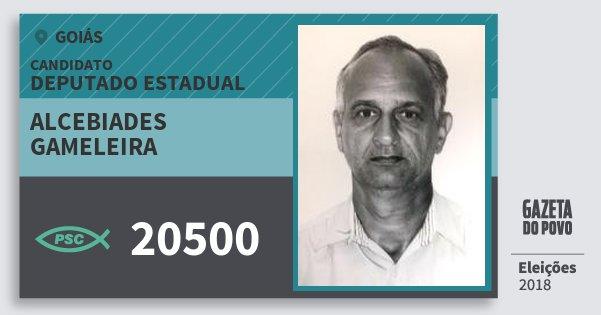 Santinho Alcebiades Gameleira 20500 (PSC) Deputado Estadual   Goiás   Eleições 2018