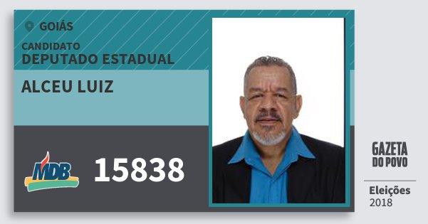 Santinho Alceu Luiz 15838 (MDB) Deputado Estadual | Goiás | Eleições 2018