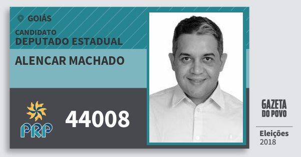 Santinho Alencar Machado 44008 (PRP) Deputado Estadual   Goiás   Eleições 2018