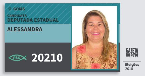 Santinho Alessandra 20210 (PSC) Deputada Estadual | Goiás | Eleições 2018