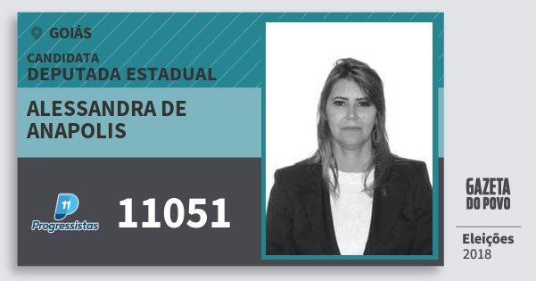 Santinho Alessandra de Anapolis 11051 (PP) Deputada Estadual | Goiás | Eleições 2018